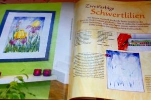 """Layout des Artikels - Sonderheft """"Blumen malen.."""" KT 147, OZ-Verlag"""