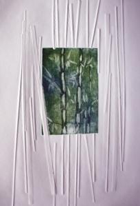 """""""Bamboo with bamboo on Bamboo"""" I, 30 x 40 cm - Druck, (c) Cordula Kerlikowski"""