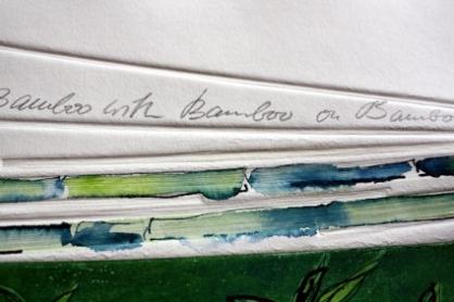 """Bamboo with Bamboo on Bamboo"" II, 30 x 40 cm, Mischtechnik, Detail 3, (c) by Cordula Kerlikowski"