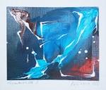 """""""Winterstille I"""" - 11 x 13 cm, Mischtechnik auf Papier, (c) by Cordula Kerlikowski"""