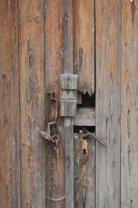 Wolgast, Detail einer alten Tür, Foto (c) Cordula Kerlikowski