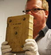 Buch der Kramergild aus dem Jahr 1281, Foto mit Genehm.des Stadtarchivs